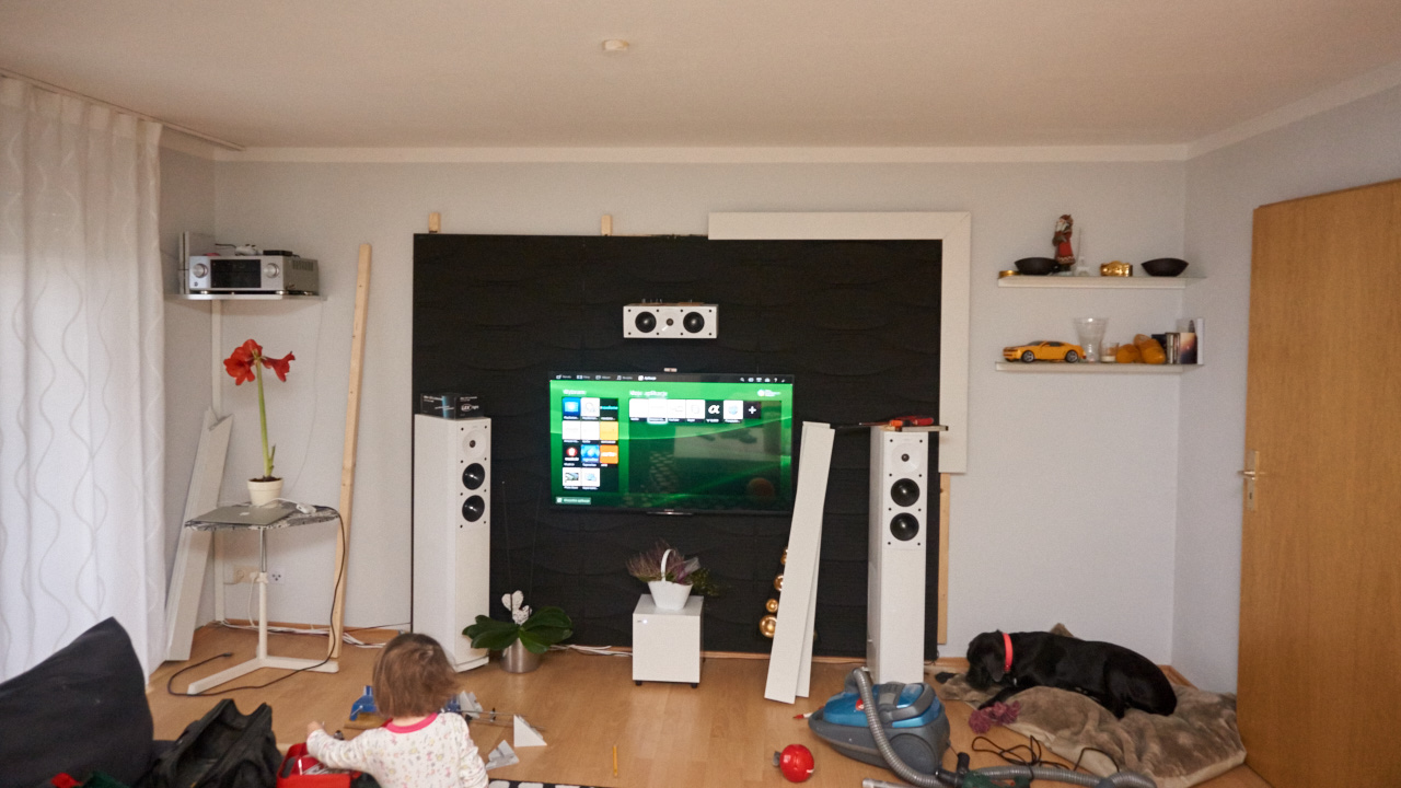 Tv wand selbstgemacht sony - Spachtelmasse wand glatten ...