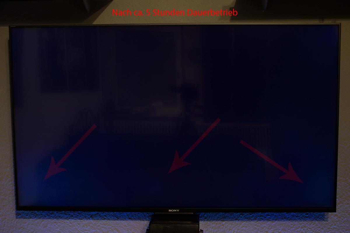 50w755c - Clouding wegen zu warmer Hauptplatine? - Sony