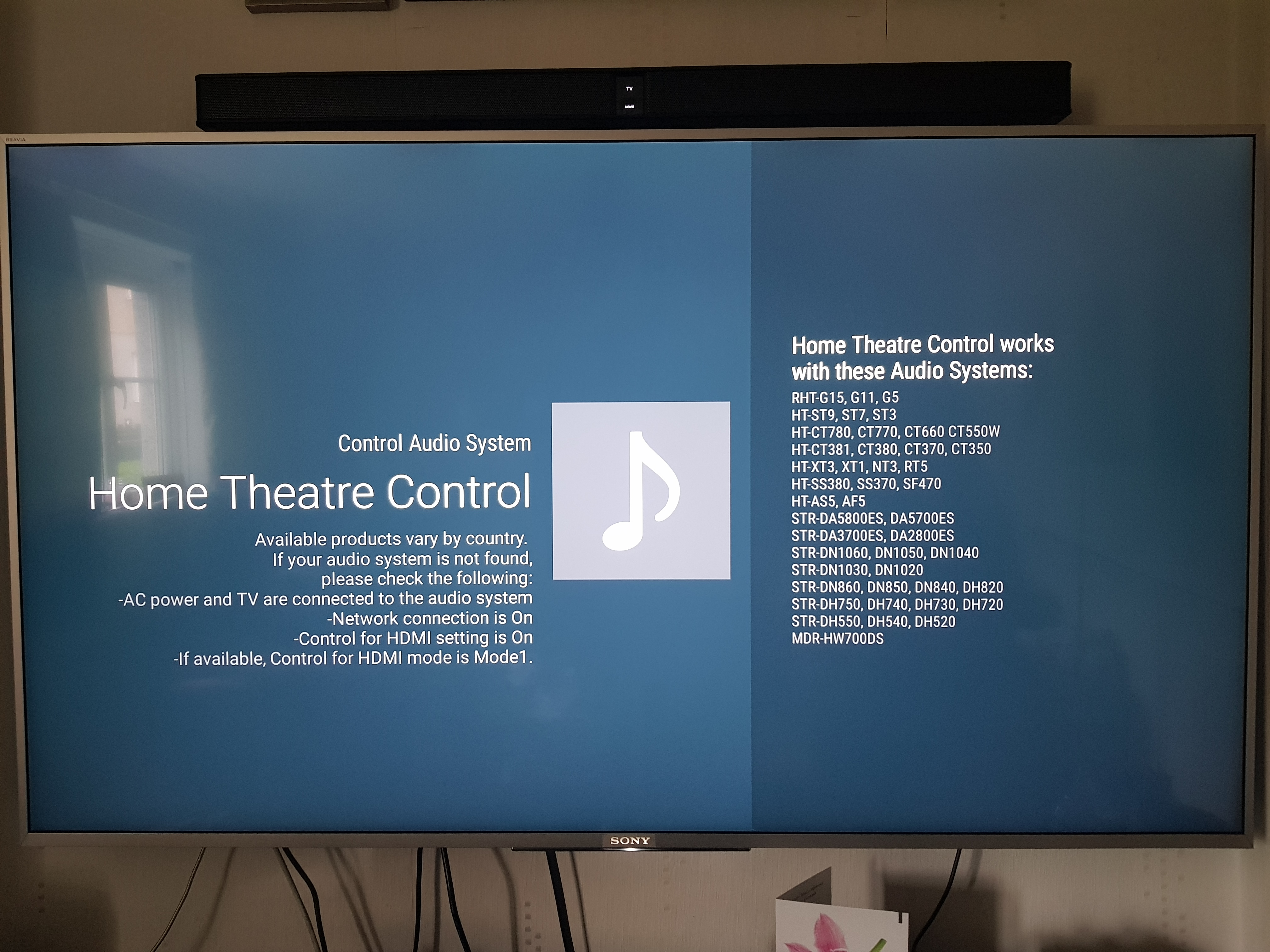 KD-55X8577 & HT-CT290 audio sync issues - Sony