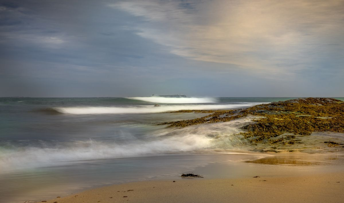 Sea And Time Rolls By Northumberland Coast Near Sony