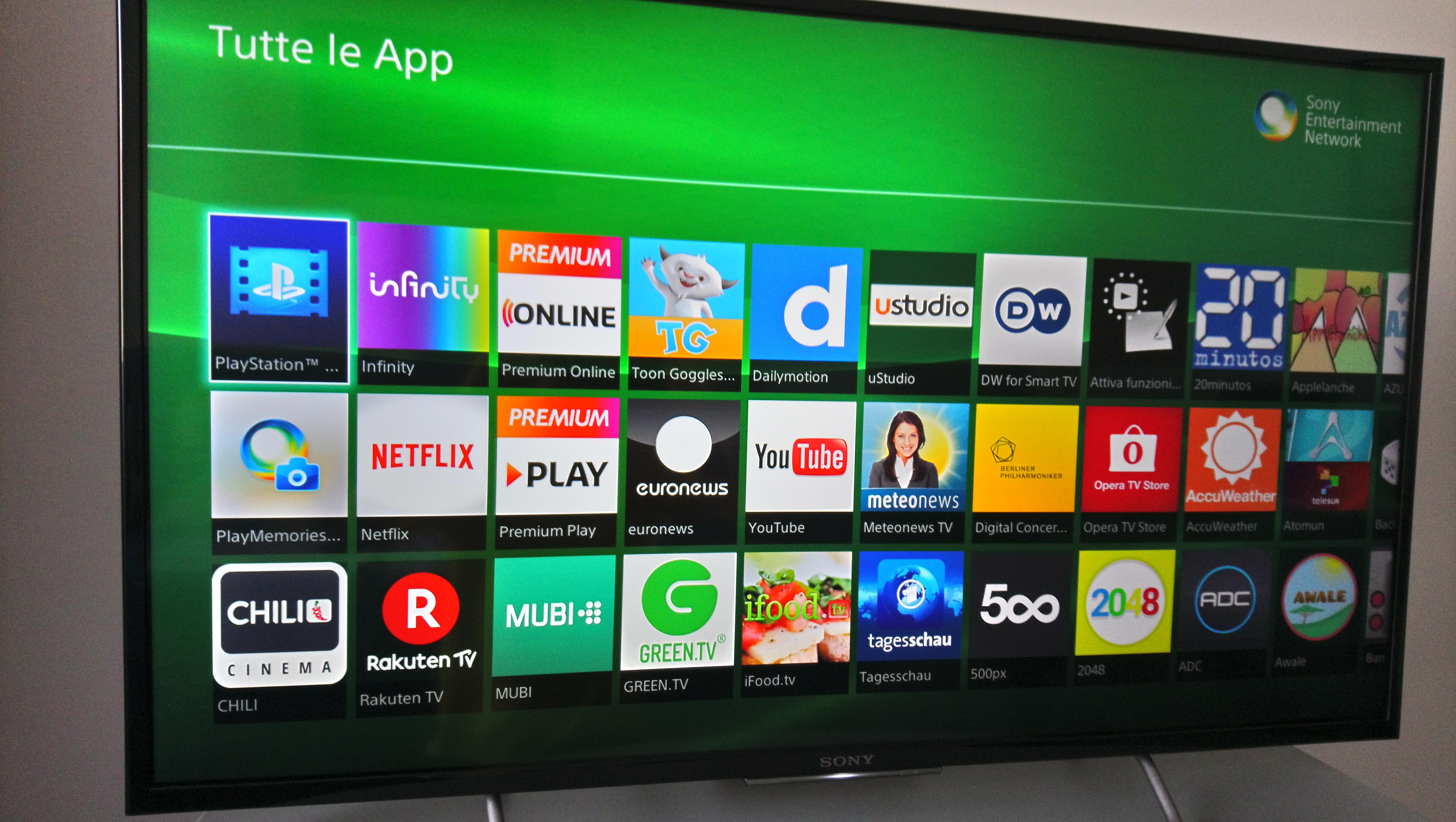 timvision su smart tv sony