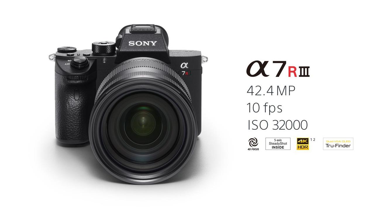 La nueva cámara de formato completo α7R III - Sony