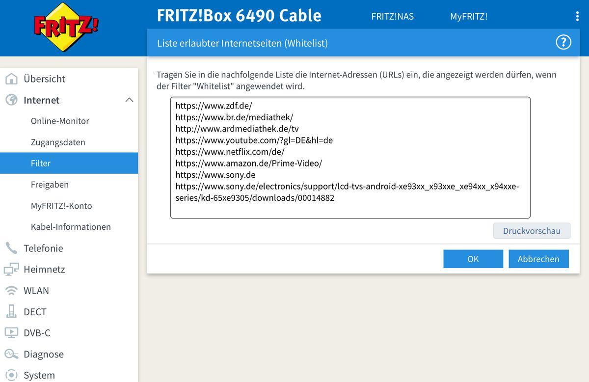 Whitelist Sammlung für nützliche Apps / Dienste - Sony