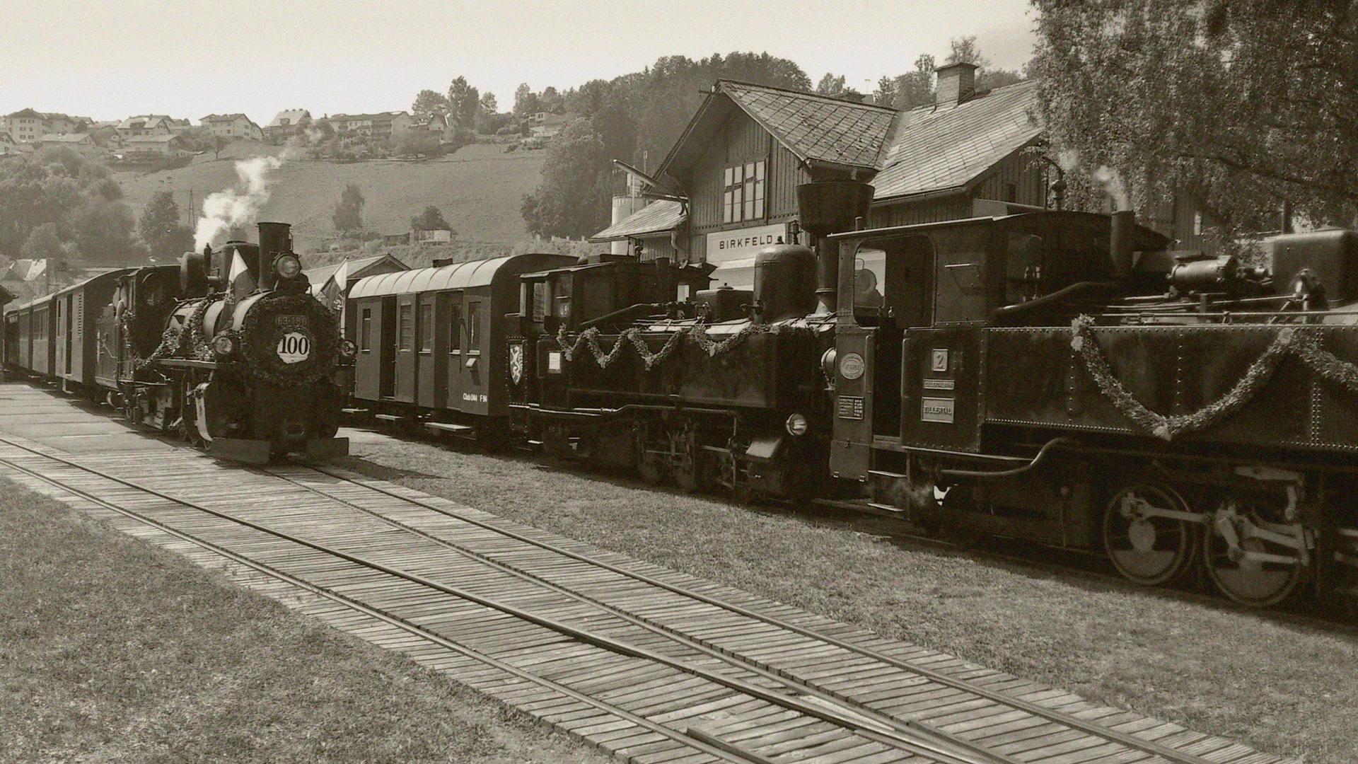 Feistritztalbahn wie vor 100 Jahren